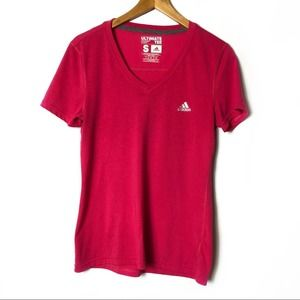 Adidas Ultimate Tee Active T-Shirt V-Neck Active Top Women's Size Small
